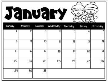 EDITABLE Calendars 2019 - 2020