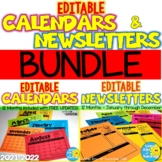 EDITABLE Calendars & Newsletters BUNDLE