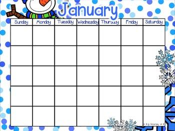 EDITABLE Calendars for the Year