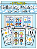 EDITABLE Calming Corner Posters: reference for a time out,