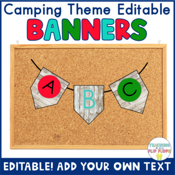 EDITABLE Camping Banner