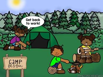 EDITABLE Camping Move It - Brain Breaks