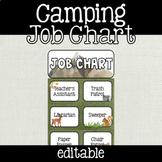 EDITABLE Camping Theme Classroom Jobs