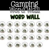 EDITABLE Camping Themed Word Wall