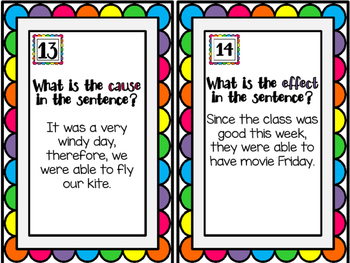 EDITABLE Cause & Effect Task Cards Version2 with Cooperative Learning Activities