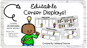 EDITABLE Center Displays!