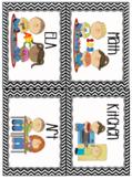EDITABLE Center Label Cards