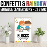 EDITABLE Center Signs Editable Center Signs for Preschool