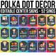 EDITABLE Center Signs Editable, Center Signs for Preschool, Polka Dot Chalkboard