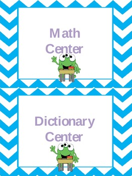 EDITABLE Center Signs and Student Name Plates...Monster Theme