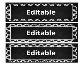EDITABLE Chalkboard Bin Labels