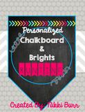 EDITABLE Chalkboard & Brights Bunting/Banners