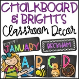EDITABLE Chalkboard & Brights Classroom Decor Mega-Pack