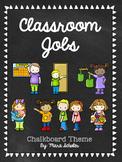 EDITABLE Chalkboard Classroom Job Cards