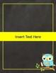 EDITABLE Chalkboard Owl-Themed Binder Covers