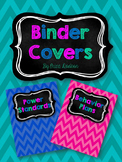 Chalkboard & Chevron Teacher Binder Covers and Spines *EDITABLE*