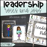 EDITABLE Chalkboard and Shiplap Leadership Roles- Classroom Jobs