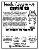 EDITABLE Halloween Dress Up Day - Favorite Character - Par