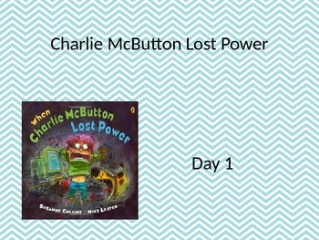 EDITABLE Charlie Mc Button power point and interactive notebook