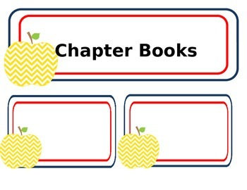 EDITABLE Cheveron Apple Library Labels