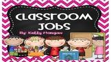 EDITABLE Chevron Chalkboard Classroom Jobs