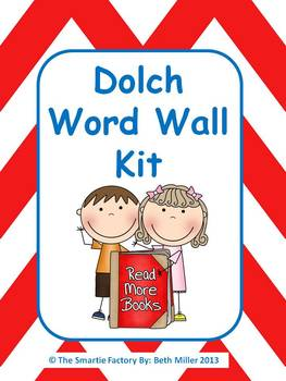 Dolch Word Wall Packet: All 220 Dolch Words plus extras: EDITABLE (Chevron)