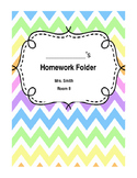 EDITABLE Chevron Homework Cover Page