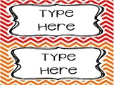 EDITABLE Chevron Labels / Tags