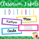 EDITABLE Chevron Name Tags or Labels