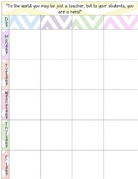 EDITABLE Chevron & Polka Dot Themed Plan Book Pages for the 15-16 School Year!