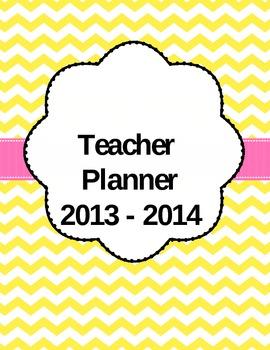 2014 Chevron Print Editable Teacher Planner/Binder