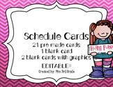 EDITABLE Chevron Schedule Cards
