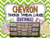Editable Chevron Teacher Toolbox Labels