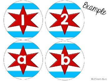 EDITABLE Chicago Flag Classroom Label Set