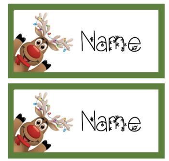 EDITABLE Christmas Desk Name Tags