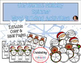 EDITABLE Christmas Holiday Spinner Word Building Activity