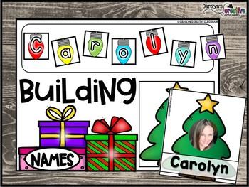 EDITABLE Christmas Literacy Center | Building Sight Words (ANY WORD LIST!)
