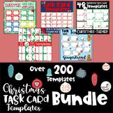 EDITABLE Christmas Task Card Templates BUNDLE! Save 40%!!