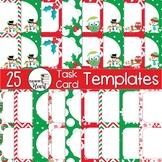 EDITABLE Christmas Task Card Templates Set #3