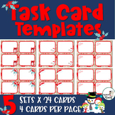 EDITABLE Christmas Task Card Templates for PERSONAL & COMMERCIAL use Set#2