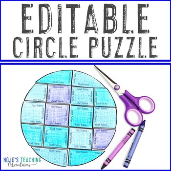 EDITABLE Circle Puzzle | FUN Friday Activities | Create games on ANY topic!