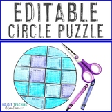 EDITABLE Circle Puzzle: Create games on ANY topic for Distance Learning Packets