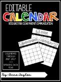 EDITABLE Class Calendars