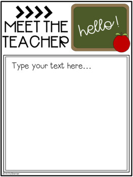 EDITABLE Class Information Pack {for Back to School}