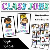 EDITABLE Class Jobs Set! Pre-made Jobs AND Editable Class