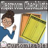 EDITABLE Class List / Checklist