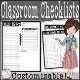 EDITABLE Class List / Checklist- Data Collection Addition!