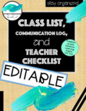 EDITABLE Class List, Checklists and More!