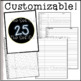 EDITABLE Easy Fill Classroom Lists