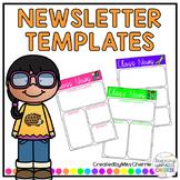 Class Newsletter Templates EDITABLE
